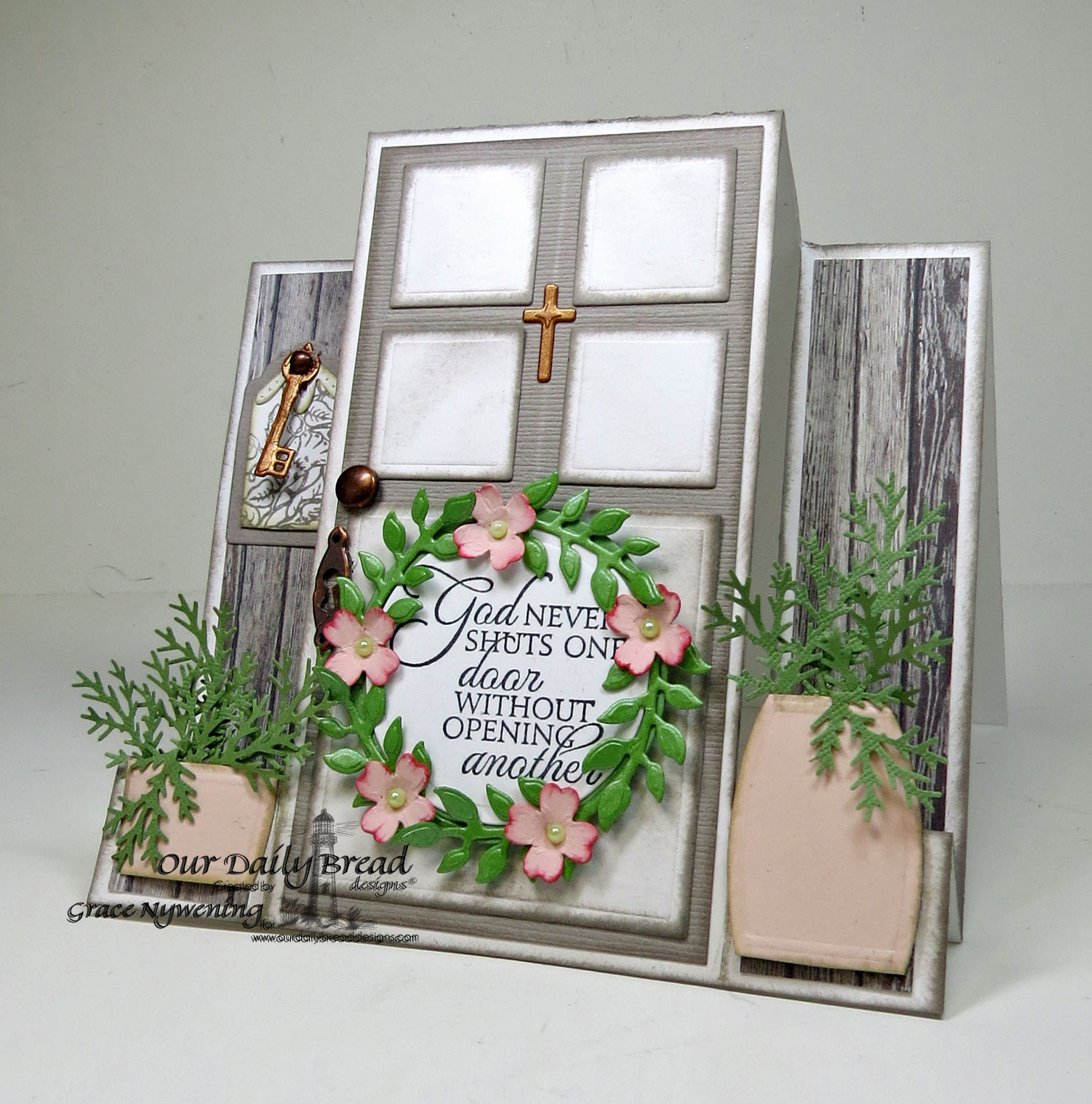 Stamps - Our Daily Bread Designs Key to Heaven, Glory, ODBD Custom Angel Wings Die, ODBD Custom Fancy Foliage Die, ODBD Custom Ornamental Crosses Die, ODBD Custom Recipe Card and Tags Die