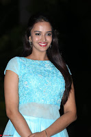 Pujita Ponnada in transparent sky blue dress at Darshakudu pre release ~  Exclusive Celebrities Galleries 104.JPG