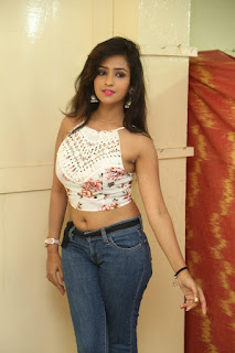 Deekshita Parvathi in a short crop top and Denim Jeans Spicy Pics Beautiful Actress Deekshita Parvathi January 2017 CelebxNext (11).JPG