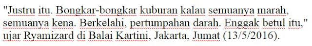 Mantap Jendral !! Menhan Tolak Perintah Jokowi Cari Kuburan Massal 1965, Mentri Pertahanan Rymizard Rycudu : Saya Tak Mau Negara Jadi Ribut - Naon Wae News
