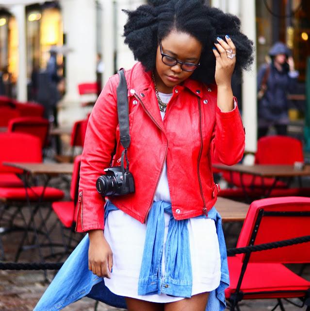 Red Levi Waxed Jacket, Canon Camera, Street Style