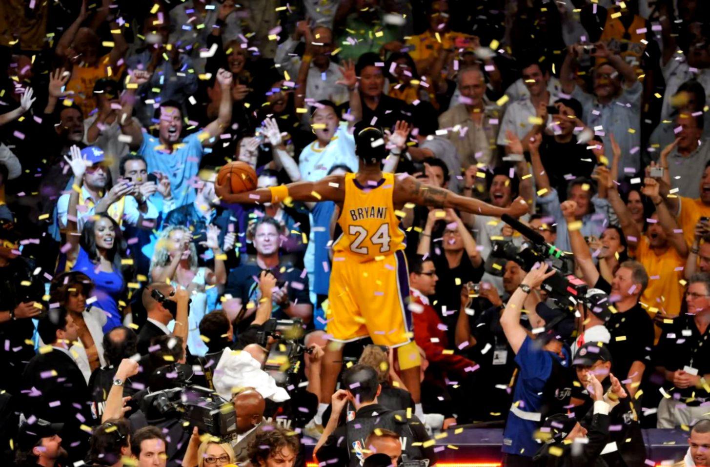 Kobe Bryant Celebrating Hd Wallpaper Wallpaper Background Hd