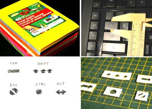 teclas, truco, manualidades, teclado pc, teclados, foami, goma eva