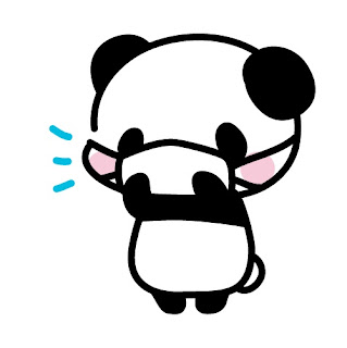 マスクをしたパンダのイラスト