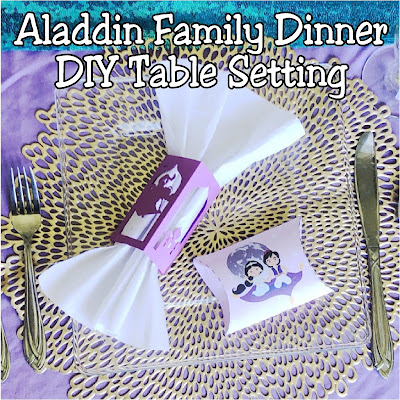 Have some family fun with an Aladdin family dinner. Check out these easy DIY table decorations and ideas to help create a magic table scape.