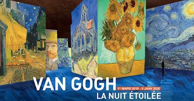 L'atelier des lumières nous emmène dans la tête de Vincent Van Gogh entre nuit étoilée et japon rêvé.