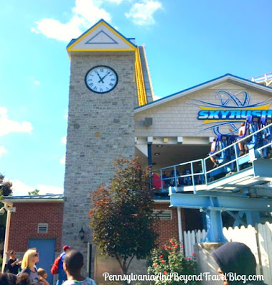 Skyrush Roller Coaster at Hersheypark in Hershey Pennsylvania
