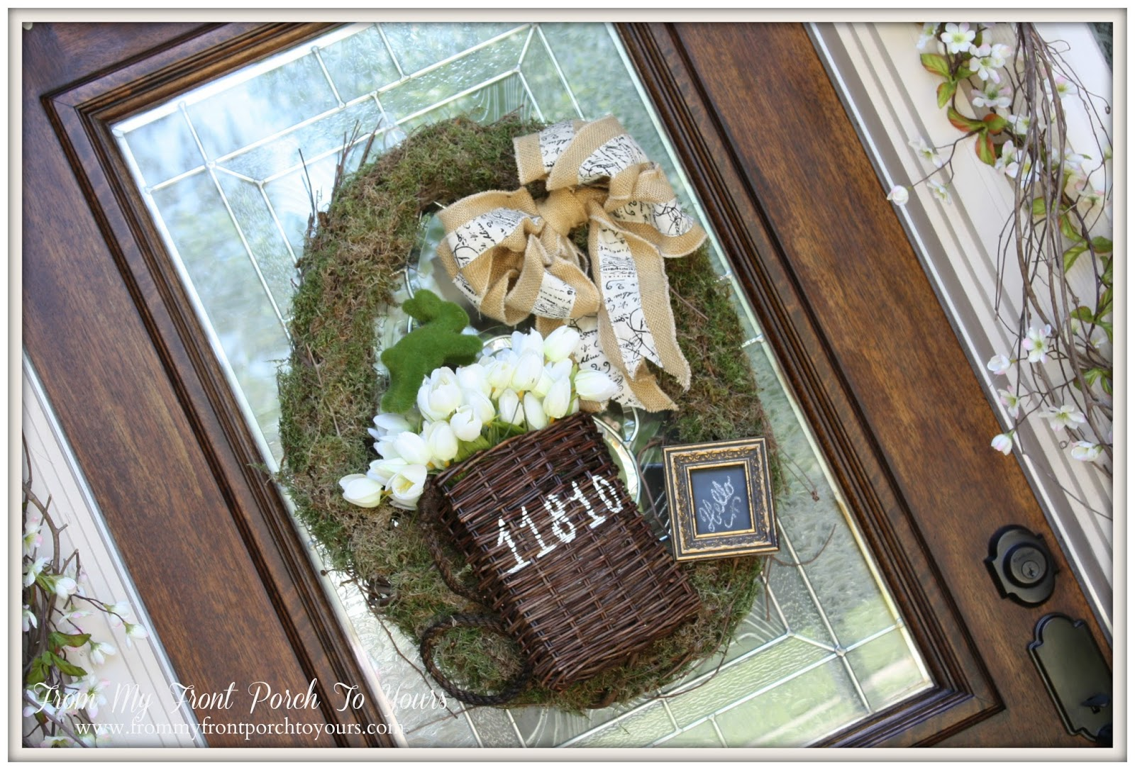 From My Front Porch To Yours- Spring Porch 2014 Moss Wreath