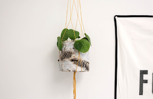 6 easy steps on how to make a hanging flowerpot.