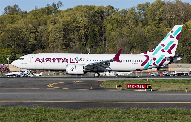 Air Italy Boeing 737 MAX 8 EI-GFY May 2018 Delivery