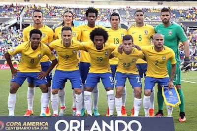 Daftar Skuad Pemain Timnas Brasil 2017 Terbaru