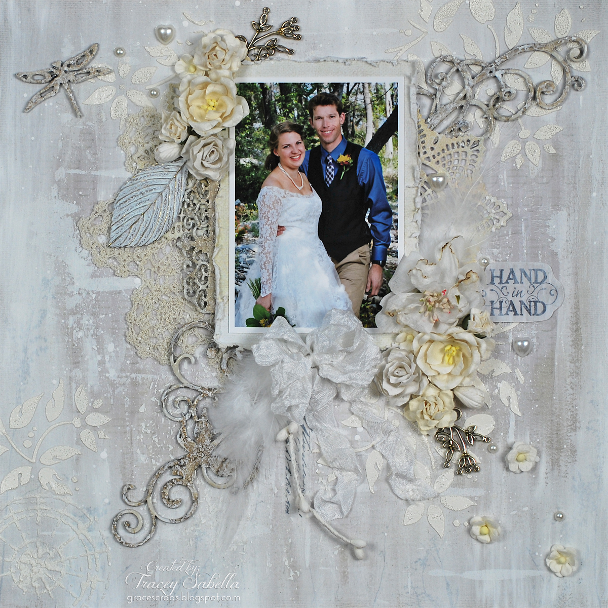 Mixed Media, Tracey Sabella, Leaky Shed Studio, Wild Orchid Crafts, Wedding, Chipboard