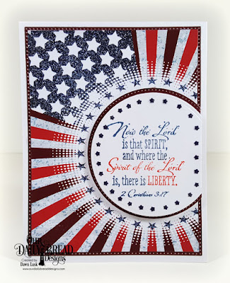Our Daily Bread Designs Stamp Set: Justice For All, Paper Collection:  Stars and Stripes, Custom Dies: USA Flag (stars), Pierced Circles, Circles, Pierced Rectangles