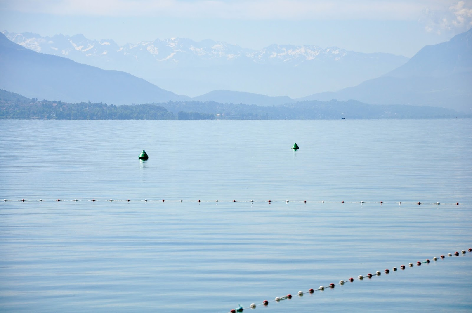Early in the morning, Lake Bourget, France's largest lake