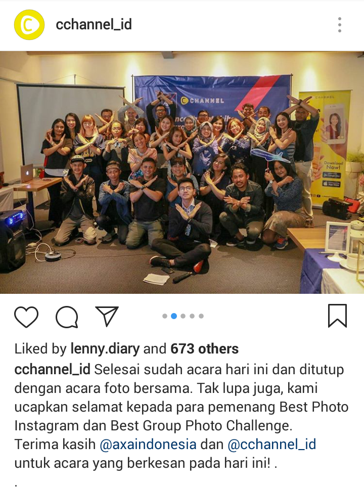 c channel x axa financial indonesia