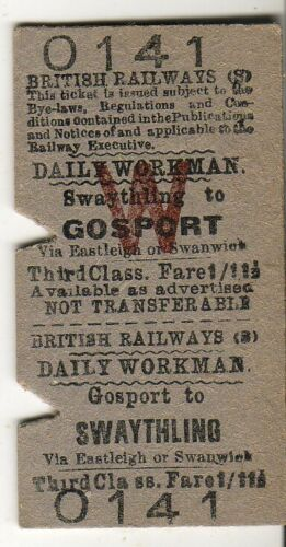 Workmans return ticket