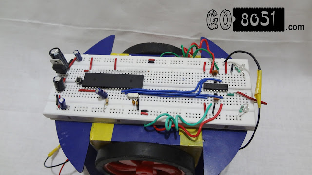 Making PC Controlled Serial Robot using 8051 Microcontroller on Breadboard