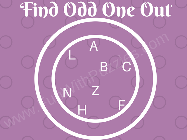 Can you find Odd Letter Out? Easy Picture Puzzle