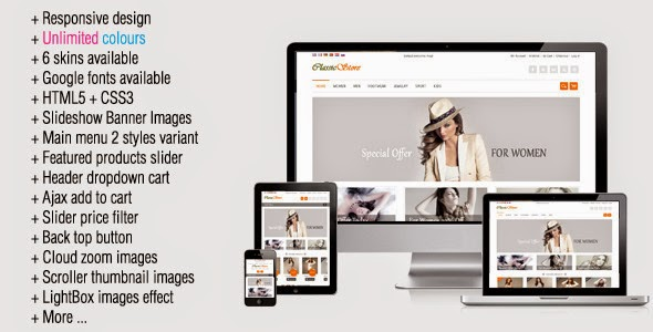 responsive clothes store theme