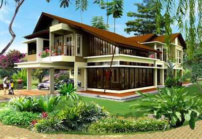 Pelan Rumah Banglo Moden