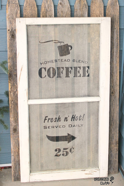 Window Screen Sign #coffee #oldsignstencils