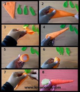 Tutorial membuat wortel dari kain flanel