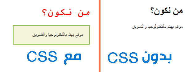 لغة css لتصميم المواقع