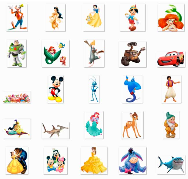 100 PNG Disney Character Images Preview 01