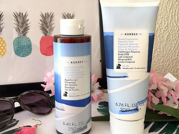 Korres Santorini Vine Shower Gel & Body Cream
