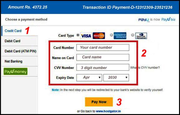 web hosting hostgator ki payment kaise kare