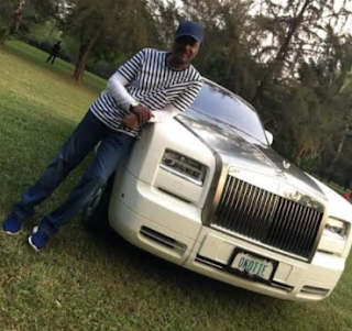 Photos: Pastor Chris Okotie looks stylish as he poses with a Rolls Royce on his golf course