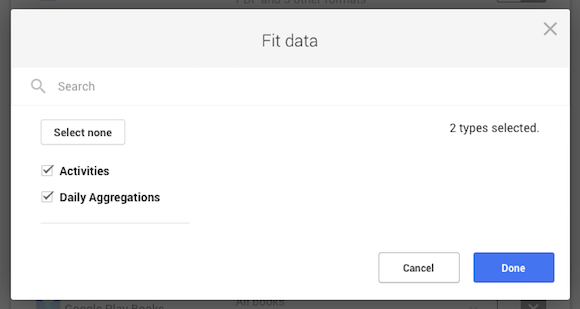 Export Google Fit Data
