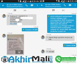 Data Direkap ScreenShoot Orderan Anda AkhirMali.com Agen CUG Telkomsel