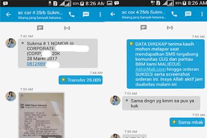 Data Direkap dan ScreenShot Orderan Anda