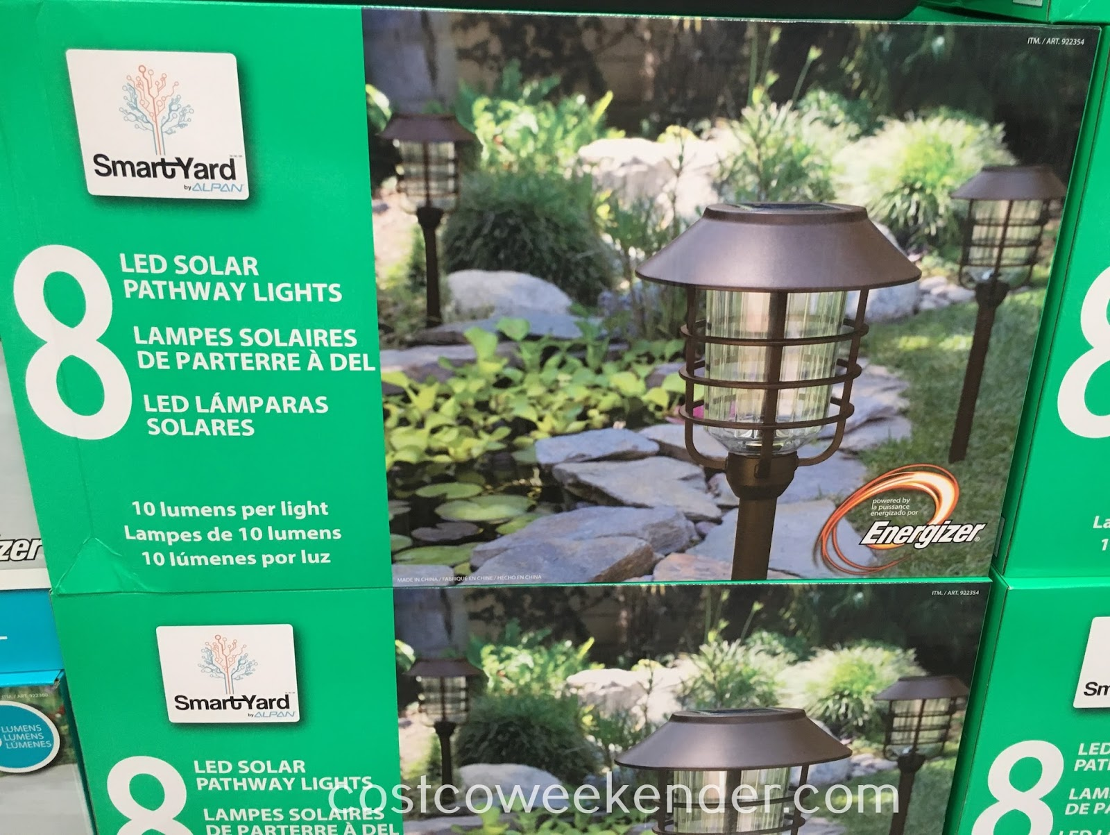 Ensure the exterior of your home is well lit with SmartYard LED Solar Pathway Lights