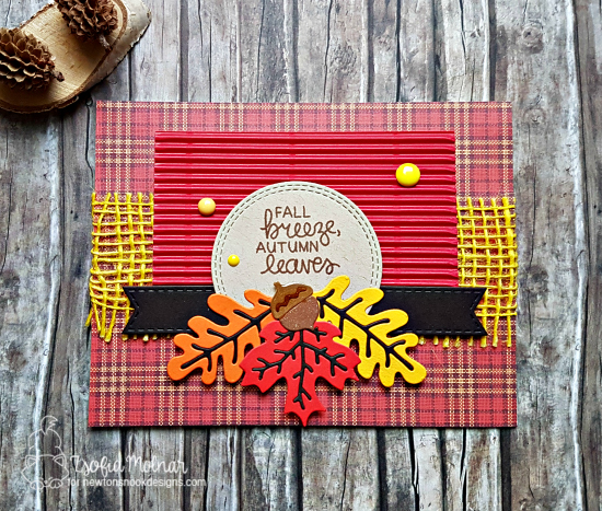 Fall Breeze Autumn Leaves by Zsofia features Autumn Leaves and Autumn Newton by Newton's Nook Designs; #newtonsnook