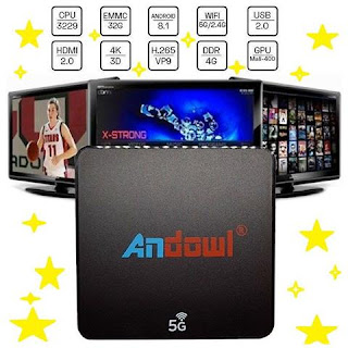 smart tv box android 8.1 4gb 32gb andowl q-m6