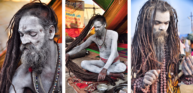 Naga baba naked sadhu indian india male man kumbh mela allahabad