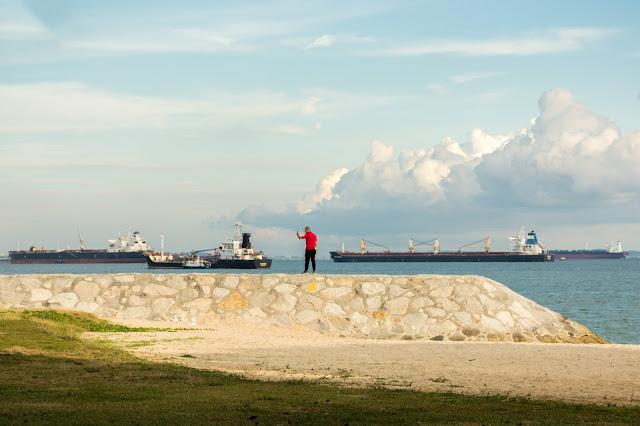 singapur, barvy, budovy, cestování, svět, east coast park