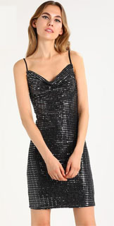 vestido de nochevieja glitter de tirantes 2018