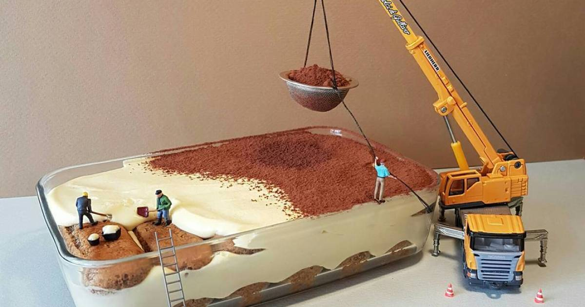 Italian Pastry Chef Creates Lifelike Miniatures Using Only Desserts