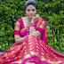 Anchor Sreemukhi Photoshoot Stills In Pink Half Saree |