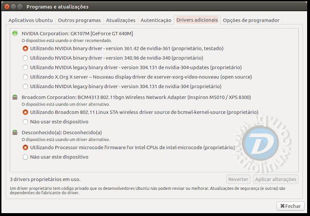 Como instalar drivers de vídeo no Ubuntu 16.04 LTS