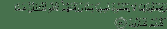 Surat An Nahl Ayat 56