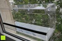 Seite: PEDY Großer Fenster Vogelfutterspender, Transparenter Saugfuß Durchsichtiger Vogelhaus Fenster Vogelfutterspender Großer Acryl Vogelfutterspender Vogelfutterstation