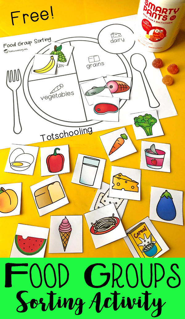 photograph relating to Food Pyramid for Kids Printable referred to as Prepare Youngsters Concerning Balanced Ingesting with a Foods Community Sorting