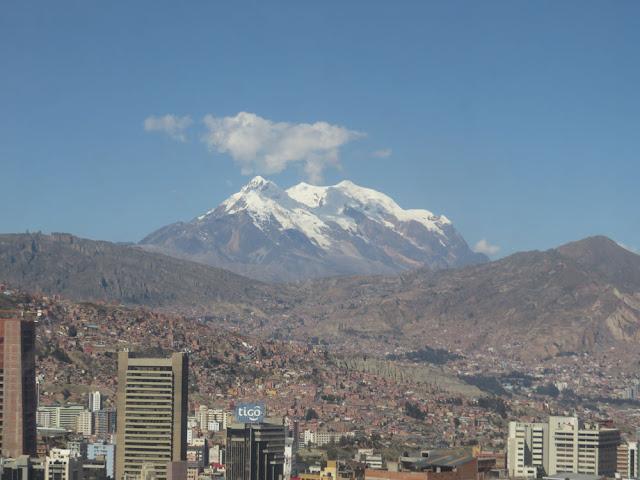 Blick auf den Illimani 6439 m Höhe