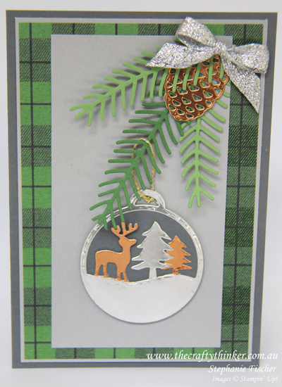 Stampin Up, #thecraftythinker, Christmas Card, Xmas, Merry Tags, Pretty Pines, Multicoloured Merry Tags, Stampin Up Australia Demonstrator, Castle Hill