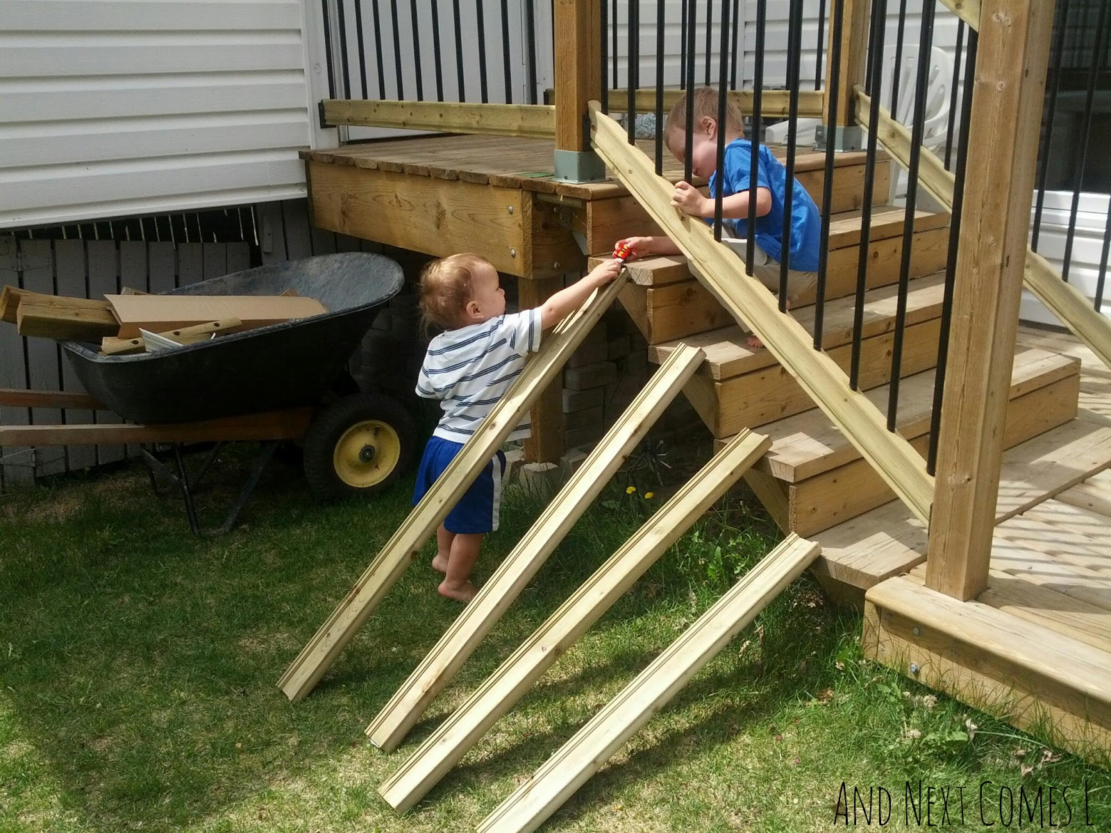 Outdoor ramps for car play from And Next Comes L