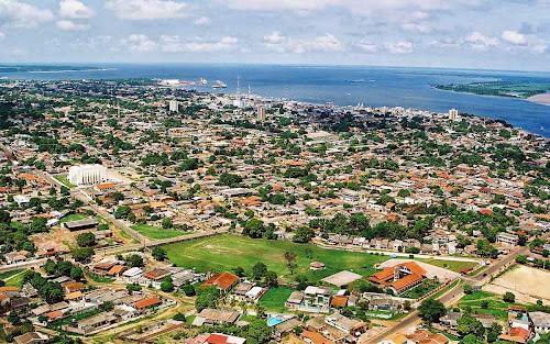 vista aérea de Santarém – Pará